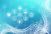 Medical Abstract Background With Health Care Icons. Medical Technology Network Concept. Connected Li poster