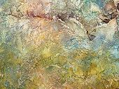 Grunge Background Of Multicolored Rough Plaster