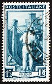 Postage stamp Italy 1950 Shipbuilding, Liguria