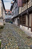 Narrow Street In Honfleur, Normandy, France