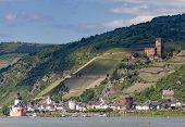 Rhine Valley At The City Of Kaub