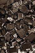 ink cartridges background color processed sepia