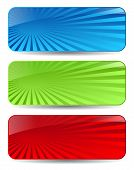 Abstract headers set, vector illustration