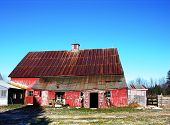 Barn And Blue Sky poster