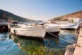 Boats in the harbor city Balaklava. Crimea