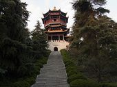 View Of One Of The Temples In The Great Peace Park Located In Nanjing