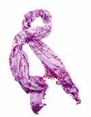 Purple Tie Dye Neckerchief With Pom Poms