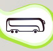 Bus. Retro-style Emblem, Icon, Pictogram. Eps 10 Vector