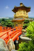 Golden Pavilion of Chi Lin Nunnery in Hong Kong, S.A.R.