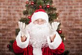 Santa Claus And Snowfall