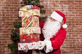 Santa Claus Brings Christmas Gifts