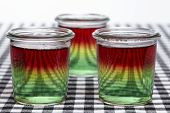 picture of jello  - Traffic light jello made of three layers jello - JPG