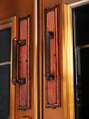 pic of boise  - These brass door handles adorn the entrance doors to Idaho - JPG