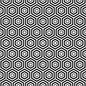 Seamless Black Hexa Pattern Background.eps