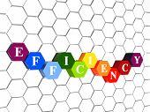 Efficiency In Color Hexagons In Cellular Structure