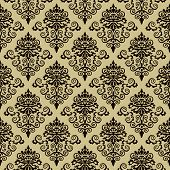 Seamless Damask Pattern Wallpaper