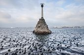 Monument To Sunken Ships, The Symbol Of Sevastopol