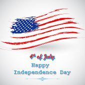illustration of Grungy American Flag Background for Independence Day