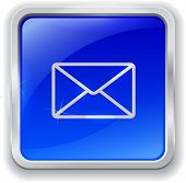E-mail Icon On Blue Button