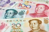 image of yuan  - Set of chinese currency money yuan renminbi - JPG
