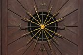 Golden Sun On A Wooden Door