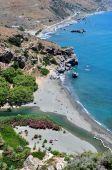View of Preveli Beach, Crete.