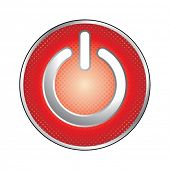 red power button icon