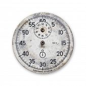 isolated grunge vintage stopwatch without pointers