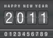 editable 2011 new year on mechanical scoreboard