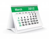march 2012 desk calendar