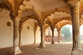 columns in palace - agra fort India