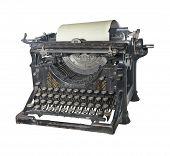 The Typewriter Of The Beginning Of 20 Centuries