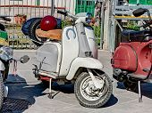 Scooter Lambretta With A Lucky Charm Horseshoe
