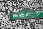 Street Signs For West 42Nd Street In Nyc.