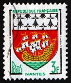 Postage Stamp France 1958 Arms Of Nantes