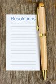 Pen And Notepad List For Resolutions