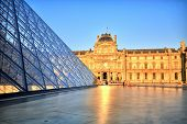 Louvre Museum At Sunset, Paris