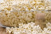 Wooden Toothpicks And Popcorn