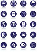 Set of international communication signs for workplaces. All vector objects and details are isolated