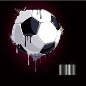from the soccer ball dripping paint