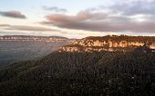 Sunrise From Sublime Point In Blue Mountains Australia