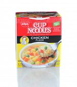 IRVINE, CA - January 21, 2013: A 2.5 ounce package of Cup Noodles Chicken Flavor. Manufactured by Ni