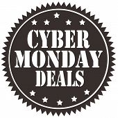 pic of monday  - Label with text Cyber Monday Deals - JPG