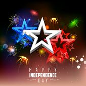 illustration of 4th of july background with firework