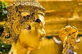 Golden Kinnaree Statue