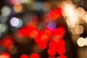 Abstract Bokeh Background Of Holiday Light, Blur, Abstract