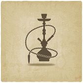 picture of shisha  - hookah old background  - JPG