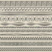 hand-drawn lines set