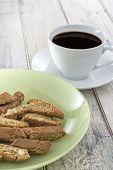 Biscotti On Green Plate