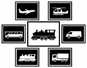 set Cargo And Freight Transport Icons